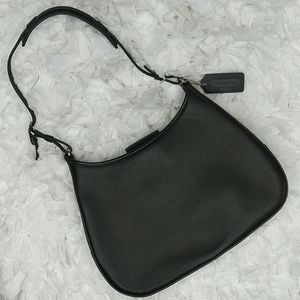 """COACH Small Black Leather """"Girlie"""" Bag in VGUC"""